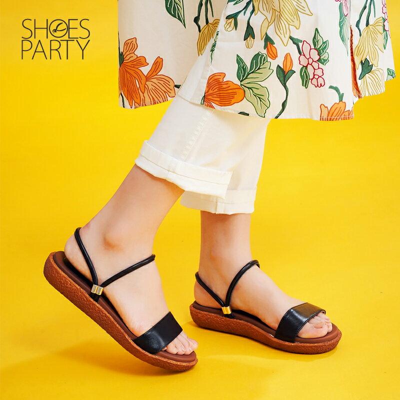 【S2-17615L】Simple+久走不累一字帶兩穿涼鞋_Shoes Party 1