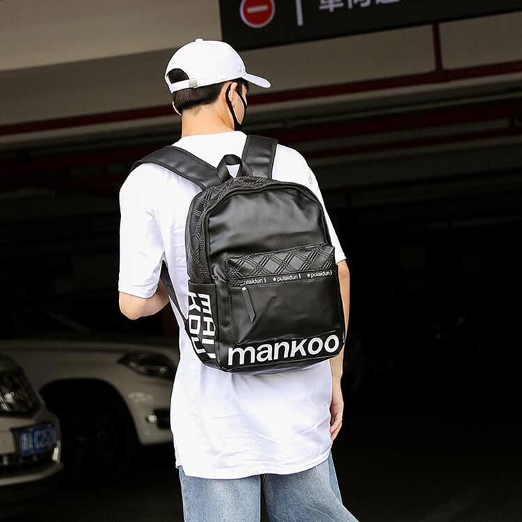 【5折超值價】經典潮流日韓街頭字造型百搭後背包