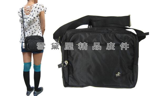 ~雪黛屋~ITALIDUCK斜側包小容量二層主袋肩側輕便型中性款男女全齡適用防水尼龍布材質台灣製造隨身物品ID212