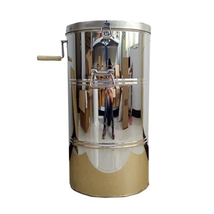 【618購物狂歡節】搖蜜機 搖蜜機304全不銹鋼加厚無縫不銹鋼搖蜜機甩蜜桶蜂蜜機蜂蜜分離機