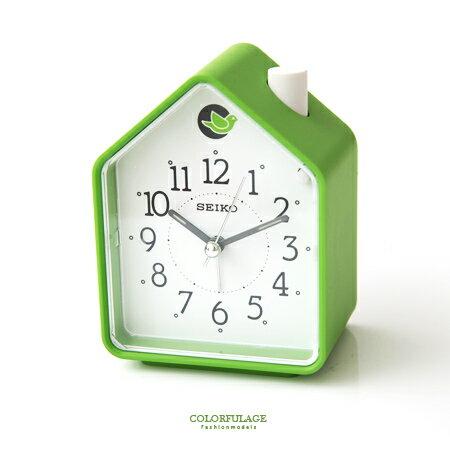 鬧鐘 綠色森林 精工SEIKO可愛房子造型鬧鐘 鳥鳴鈴聲.夜光.貪睡 柒彩年代【NE1610】原廠公司貨 0
