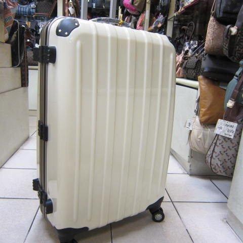 ~雪黛屋~18NINO81美國24吋ABS+PC硬殼拉桿行李箱 8大超大加寬輪設計360度旋轉輪#2028 時尚白