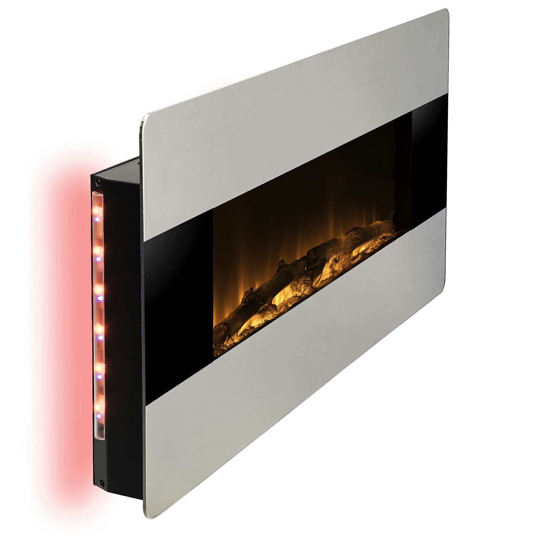 """AKDY 36"""" Wall Mount & Freestanding Convertible Multi Color 3D Flame Electric Fireplace Stove Heater 4"""