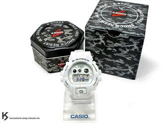kumastock 最新入荷 2015 超大 53.9mm 錶徑 CASIO G-SHOCK GD-X6900MC-7DR 白灰 叢林 迷彩 霧面錶帶 !