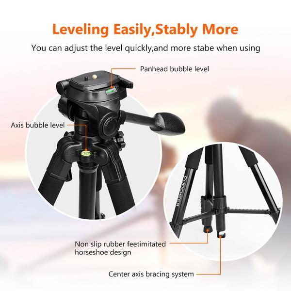Portable Flexible Camera Tripod 4 Sections Stand for DSLR 2