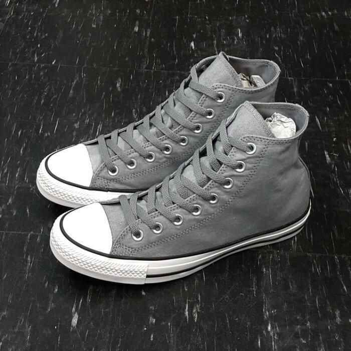 Converse Chuck Taylor All Star 高筒 帆布 灰色 灰白色 微刷白 155385C