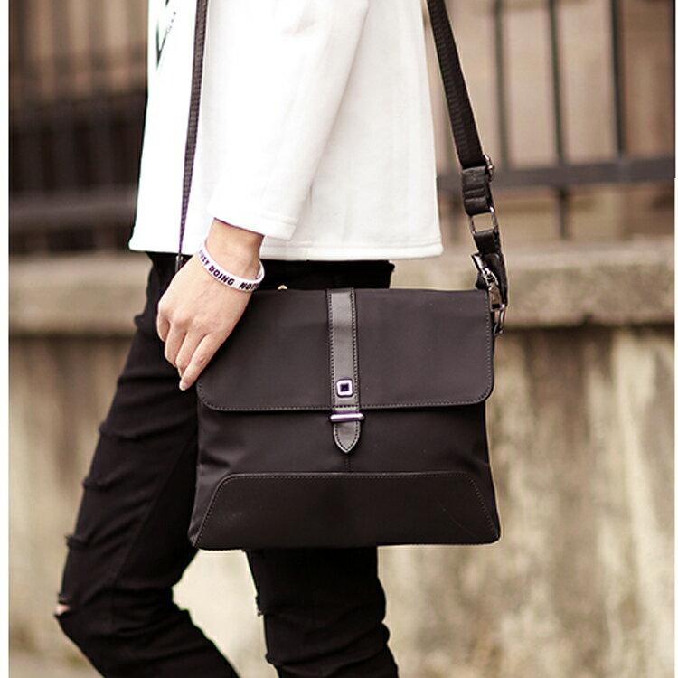 Mao ~5折 價~ 款商務文件單肩包休閒旅行iPad包防水背包挎包牛津布包