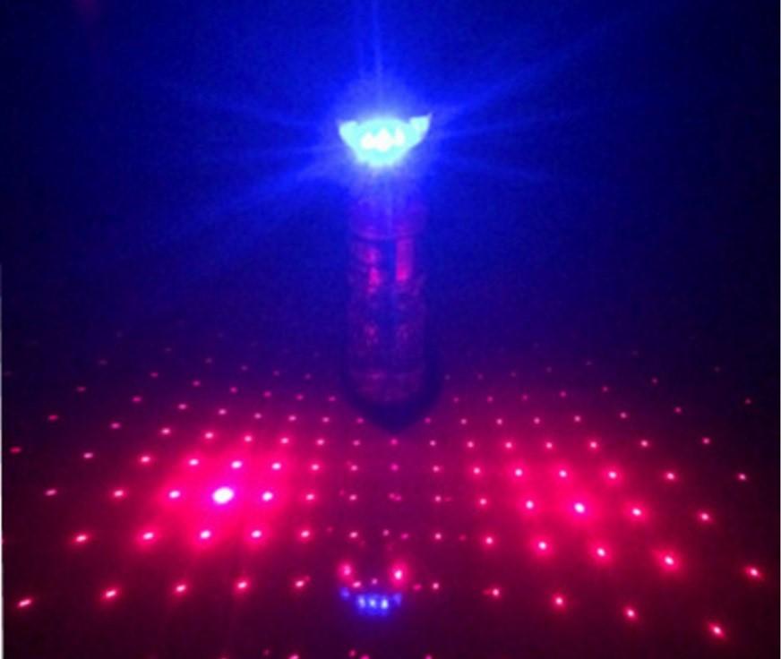 《意生》夜騎必備滿天星激光車尾燈 自行車滿天星後燈單車警示燈雷射尾燈雷射激光安全尾燈激光安全尾燈Q5.T6