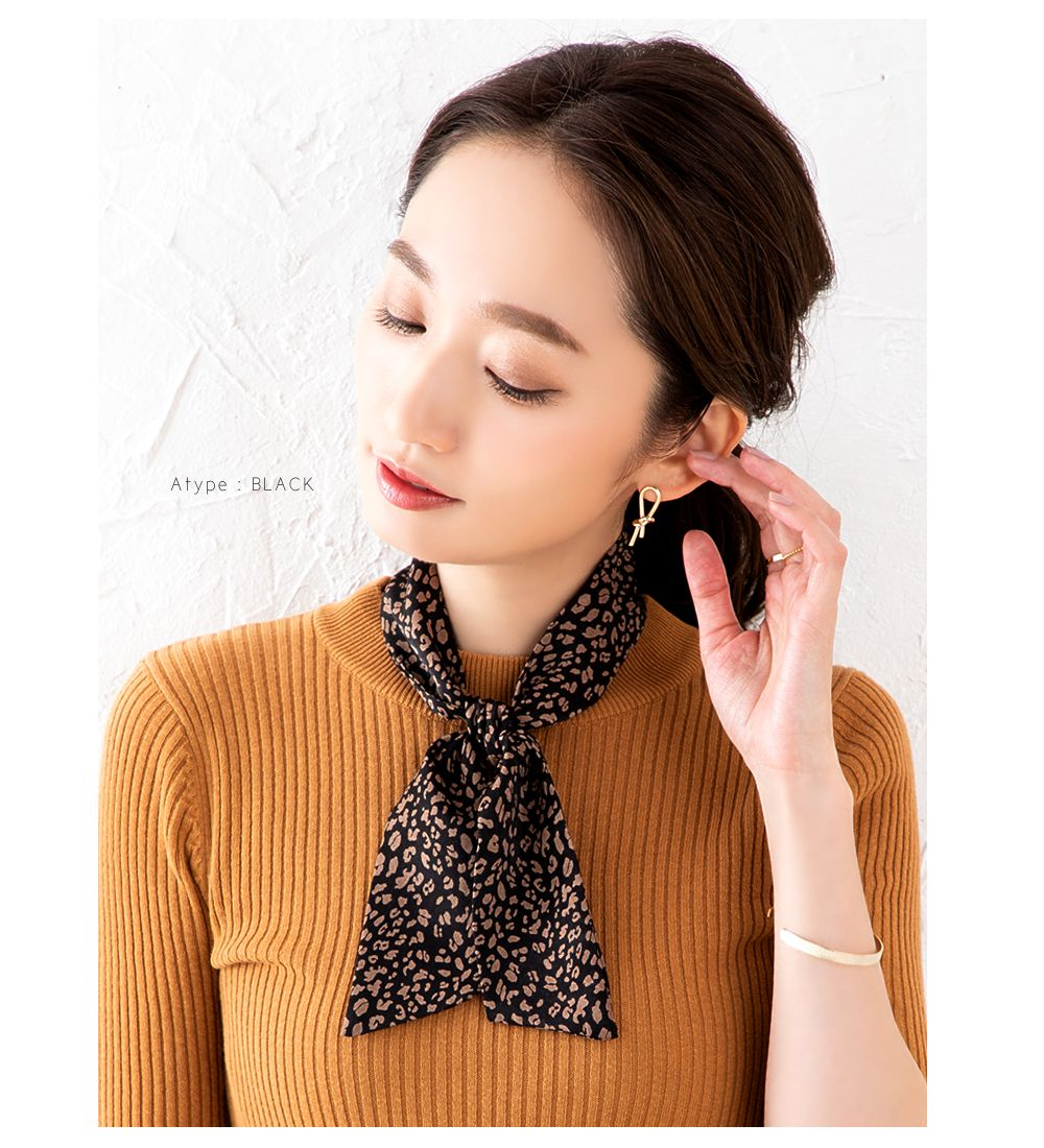 日本CREAM DOT  /  全7色 スカーフ ツイリースカーフ ファッション小物 ベルト ストール 大人 レオパード柄 ゼブラ柄 ペイズリー柄 ベージュ モカ レンガ  /  k00335  /  日本必買 日本樂天直送(1290) 5
