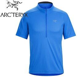 Arcteryx 始祖鳥/登山排汗衣/短袖半門襟排汗衣 透氣控溫吸濕 18272 Velox 男款 參宿藍