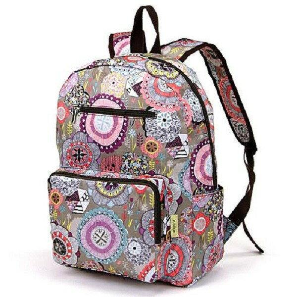 【現貨+預購】摺疊收納旅行後背包 -日本設計款 灰紫幾何 - 限時優惠好康折扣
