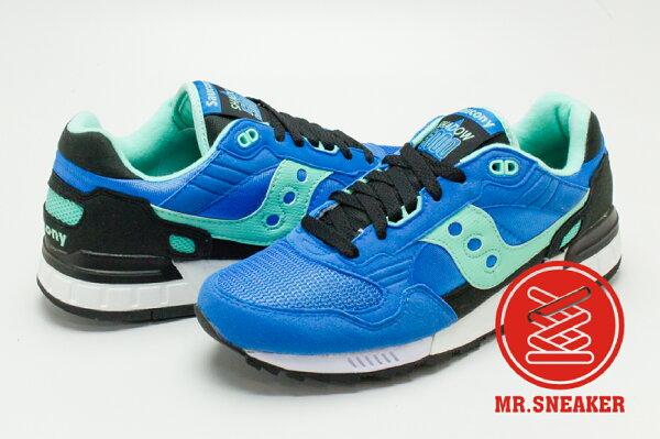 ☆Mr.Sneaker☆SAUCONYShadow5000避震緩震跑鞋專家復古藍黑亮藍色寶藍