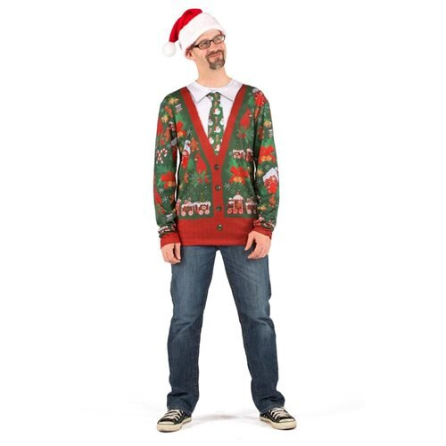 Ugly Cardigan with Tie Shirt Adult Costume - Large 0