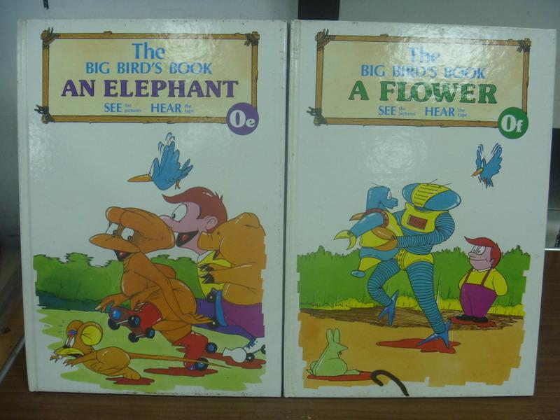 【書寶二手書T4/語言學習_PHZ】The big bird's book_An elephant等_共2本合售