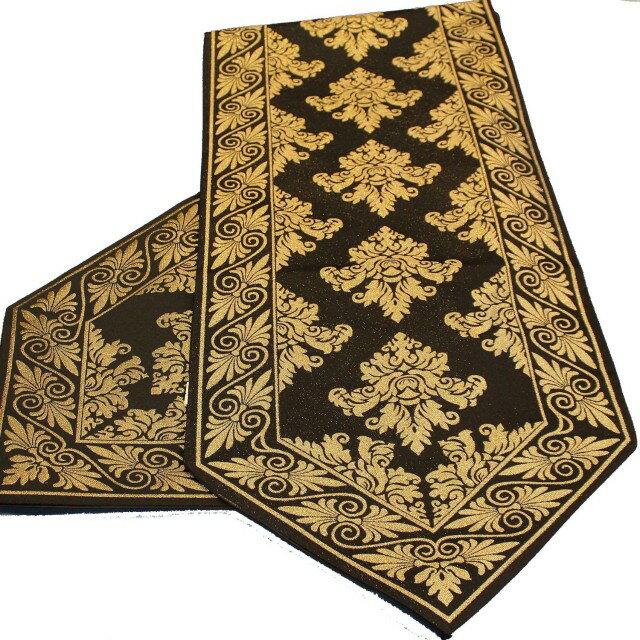 ~巴芙洛~歐風精緻桌旗~32cm~180cm~黑色