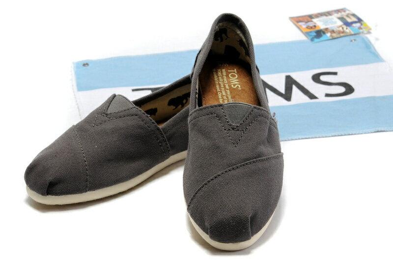 【TOMS】灰色素面基本款休閒鞋   Ash Canvas Women's Classics 3