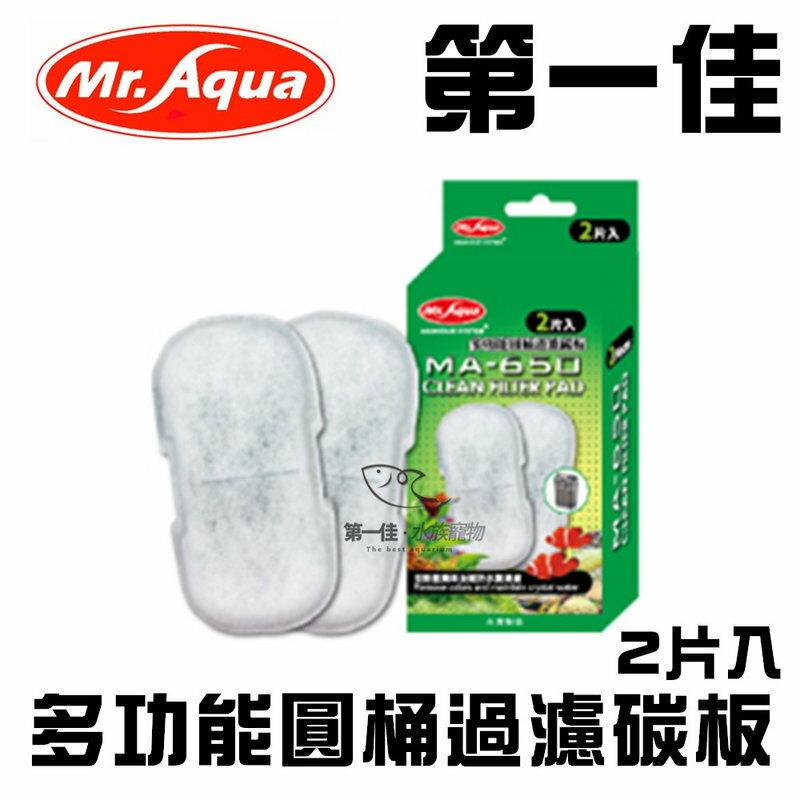 [第一佳 水族寵物] 台灣Mr.Aqua水族先生〔G-MR-101-1〕多功能圓桶過濾碳板2片入