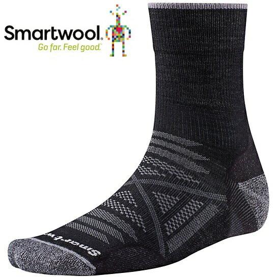 Smartwool 羊毛襪/排汗襪/保暖襪/美麗諾羊毛 PhD戶外輕量減震中長襪 SW001067 001黑