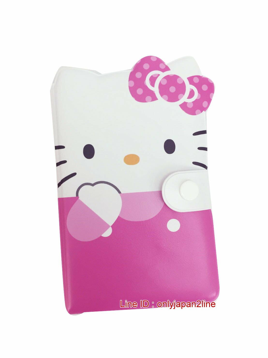 【真愛日本】16121200010造型名片本-KT大臉粉  三麗鷗 Hello Kitty 凱蒂貓  名片冊 證件夾