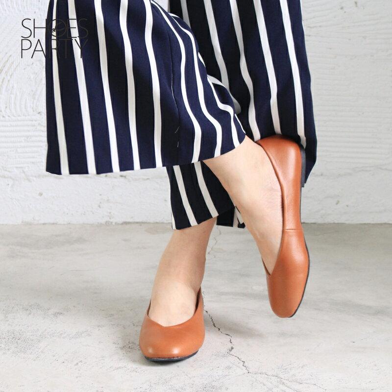 【P2-17607L】 小方頭平底鞋_Shoes Party 2