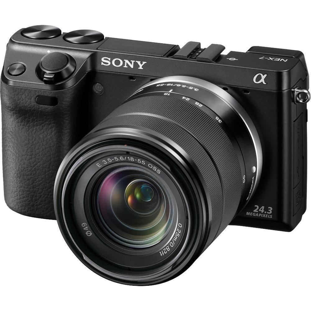 Sony NEX-7 24.3 MP Mirrorless Digital Camera with 18-55mm Lens