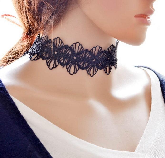 【JP.美日韓】蕾絲 鎖骨練 項鍊 腰帶 項鍊女 夢幻
