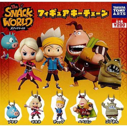 全套5款【日本進口】The SNACK WORLD 公仔吊飾 扭蛋 轉蛋 吊飾 公仔 TAKARA TOMY - 855214