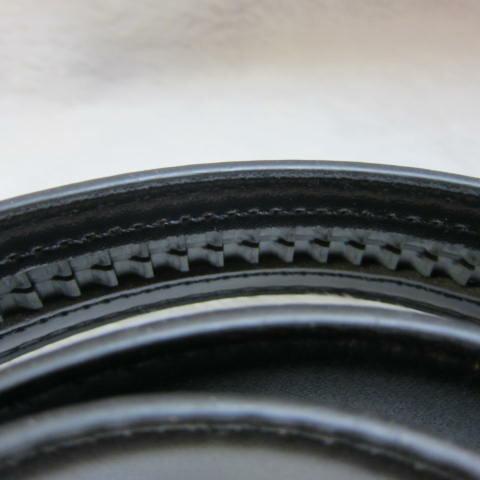 ~雪黛屋~Lian 洞釦型皮帶身紳士西裝進口防水防刮皮革材質標準紳士洞釦五金帶頭均適用 #4643黑-自動扣型