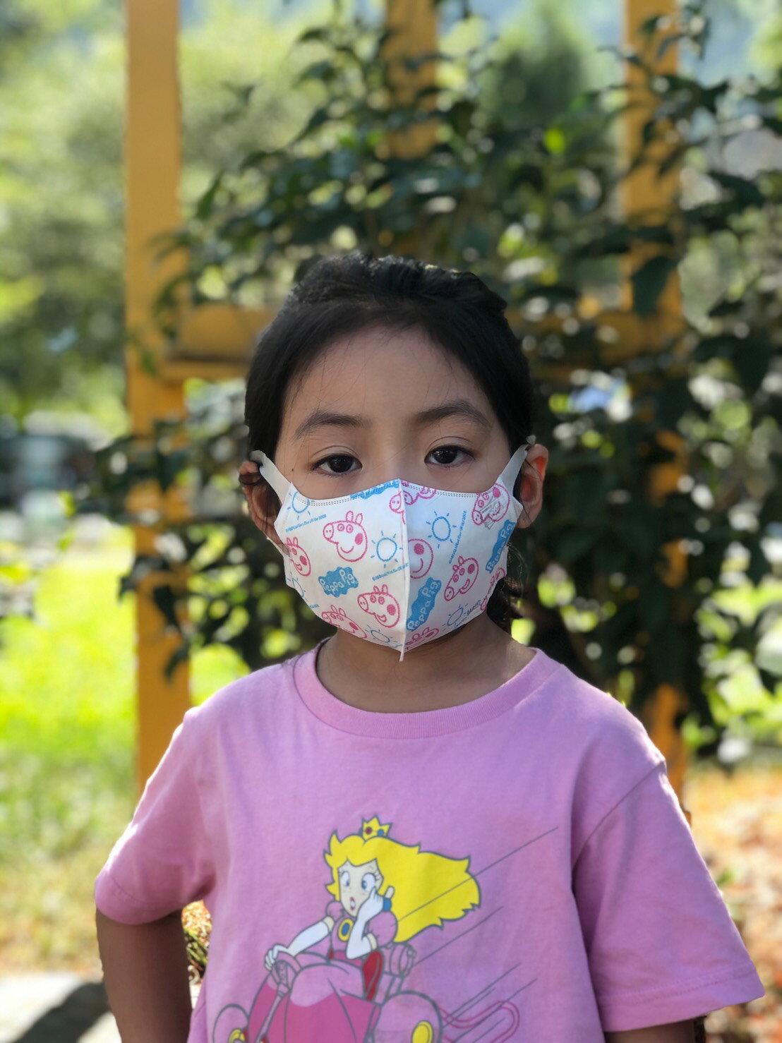 博寶兒SDC 立體兒童口罩 10 枚入-佩佩豬 (四層防護)