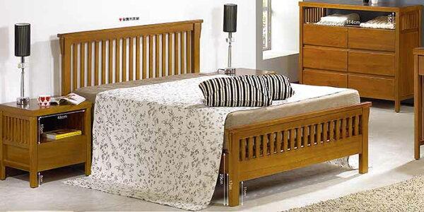尚品傢俱:【尚品傢俱】JF-033-A魯娜5尺柚木雙人床組