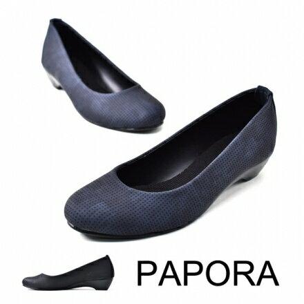 平底鞋.細緻透氣水暈染色平底娃娃包鞋~K516~藍色  黑色