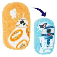 橘色款【日本進口】星際大戰 日本製 絨毛 雙面 筆袋 化妝包 收納包 鉛筆盒 Star Wars - 502724
