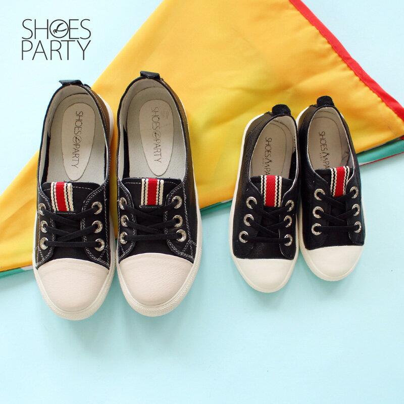 馬上出貨【FK-18204L】內建鬆緊帶,軟牛皮織帶童鞋_Shoes Party 1
