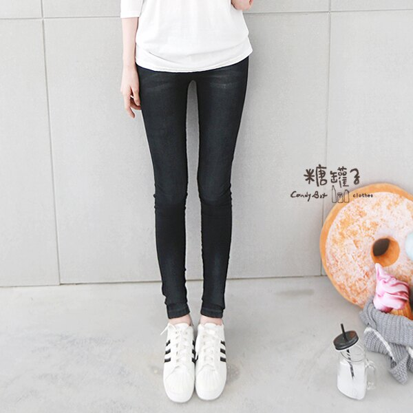 ★原價598五折299★糖罐子刷色口袋縮腰窄管褲→現貨+預購【KK4744】 2