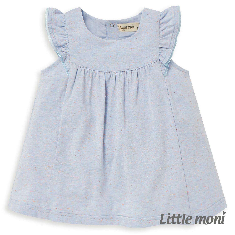 Little moni 輕甜荷葉袖上衣-亮天藍(好窩生活節) 1
