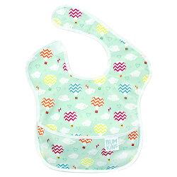 【淘氣寶寶】【美國Bumkins】防水兒童圍兜 (一般無袖款6個月~2歲適用)-熱氣球 BKS-144【保證公司貨】