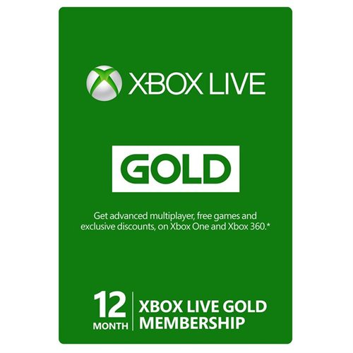 Xbox 360 / Xbox One LIVE 12 Month Gold Membership Card Subscription - NEW! 0