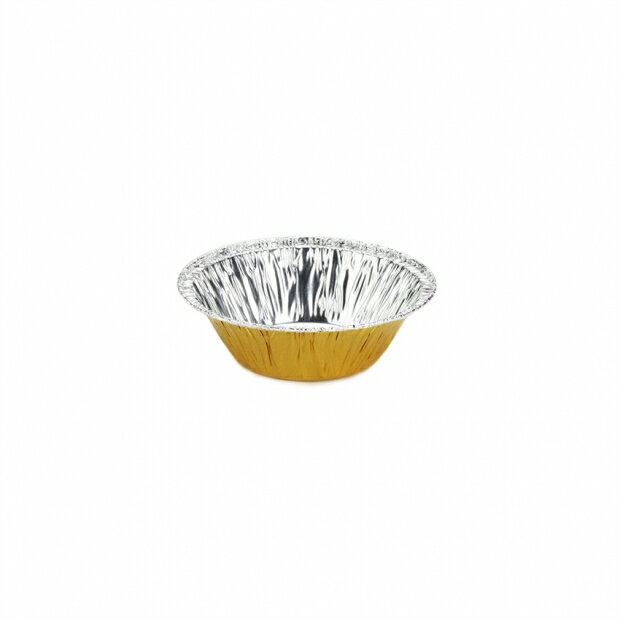 【40-G】金色鋁箔容器、錫箔、烤模、 蛋塔杯、小塔杯、圓形鋁箔(250pcs/包)