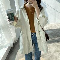 風衣外套推薦到簡約時尚抽繩收腰薄款風衣外套中大尺碼【82-15-8670-20】ibella 艾貝拉就在ibella推薦風衣外套