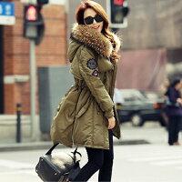 保暖推薦女羽絨外套推薦到現貨 正韓國空運真貉子毛領肩章羽絨外套【25-25-8178】ibella 艾貝拉就在ibella推薦保暖推薦女羽絨外套