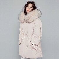 保暖推薦女羽絨外套推薦到正韓國空運真貉子毛領羽絨外套 預購【25-25-8181】ibella 艾貝拉就在ibella推薦保暖推薦女羽絨外套