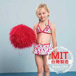 MIT圓點比基尼二件式泳裝(附帽)女小童  預購【36-66-85802】ibella 艾貝拉