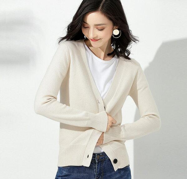 針織外套簡約V領針織上衣罩衫韓版預購【59-14-8662-18】ibella艾貝拉