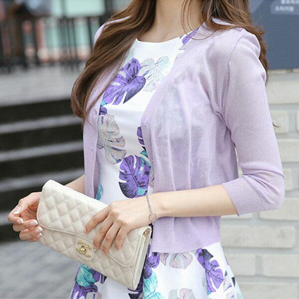 針織外套簡約V領薄款針織上衣罩衫韓版預購【59-14-8665-18】ibella艾貝拉