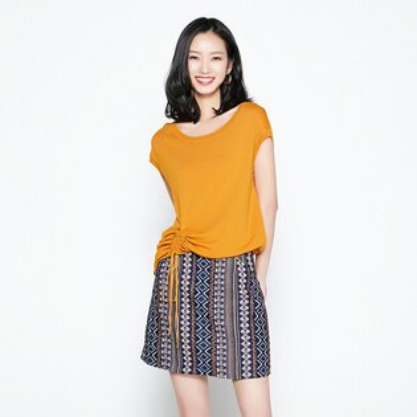 抽繩小蓋袖針織衫上衣韓版預購【80-14-8192-18】ibella艾貝拉