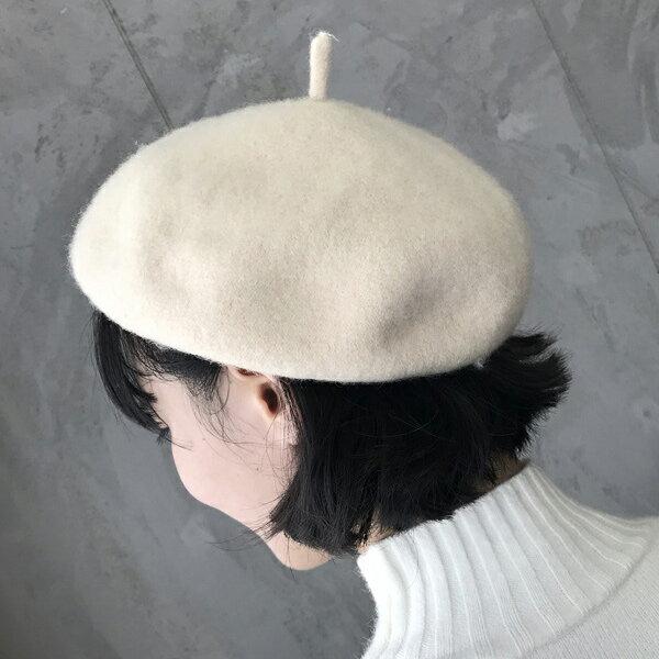 復古毛呢帽子貝蕾帽晝家帽【82-10-8923-18】ibella 艾貝拉