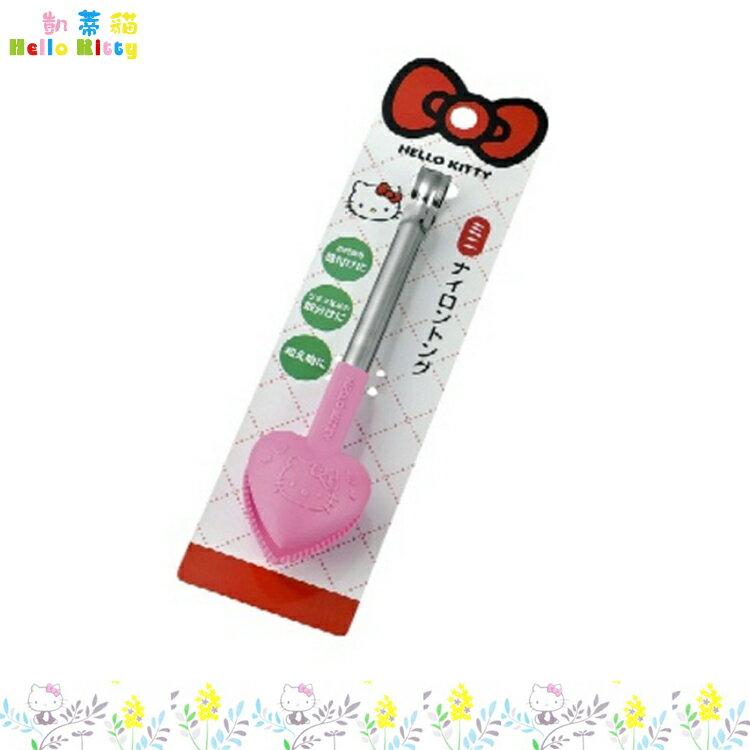 大田倉 日本進口正版 三麗鷗 凱蒂貓 Hello Kitty 沙拉夾食物料理夾麵包夾 鋼把手 pvc夾頭 168993