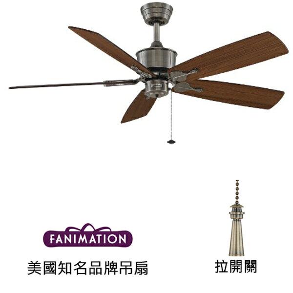 美國知名品牌吊扇專賣店:[topfan]FanimationIslanderAC52英吋吊扇(FP320PW1-B5133TKMH)古錫色