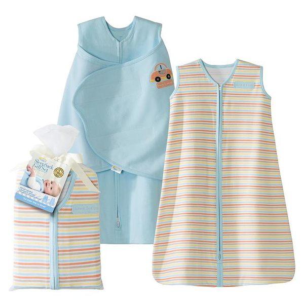 HALO SleepSack (HA-3591)藍色系 兩件組純棉睡袍組合 2-Piece Gift Set