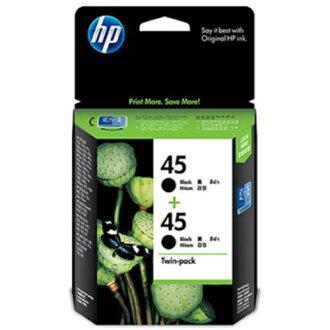 【HP 墨水匣】 CC625AA(CC625)/51645A/NO.45 原廠黑色墨水匣(雙包裝)